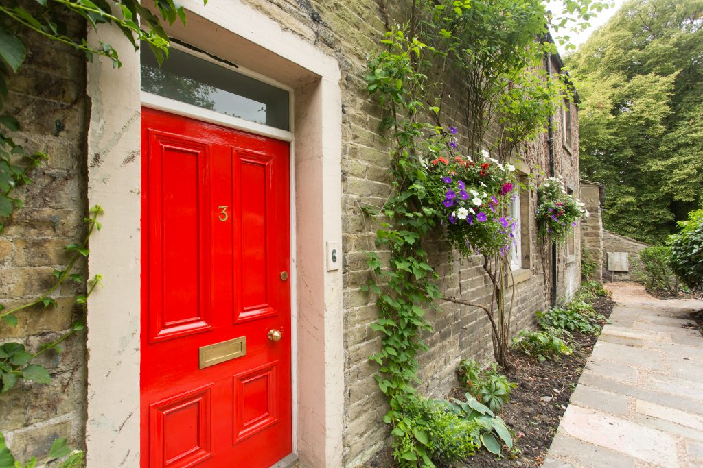 The Bailey Bed and Breakfast in Skipton external shot close up of door