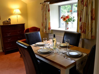 The Bailey Skipton Holiday Cottage Front Room dining area